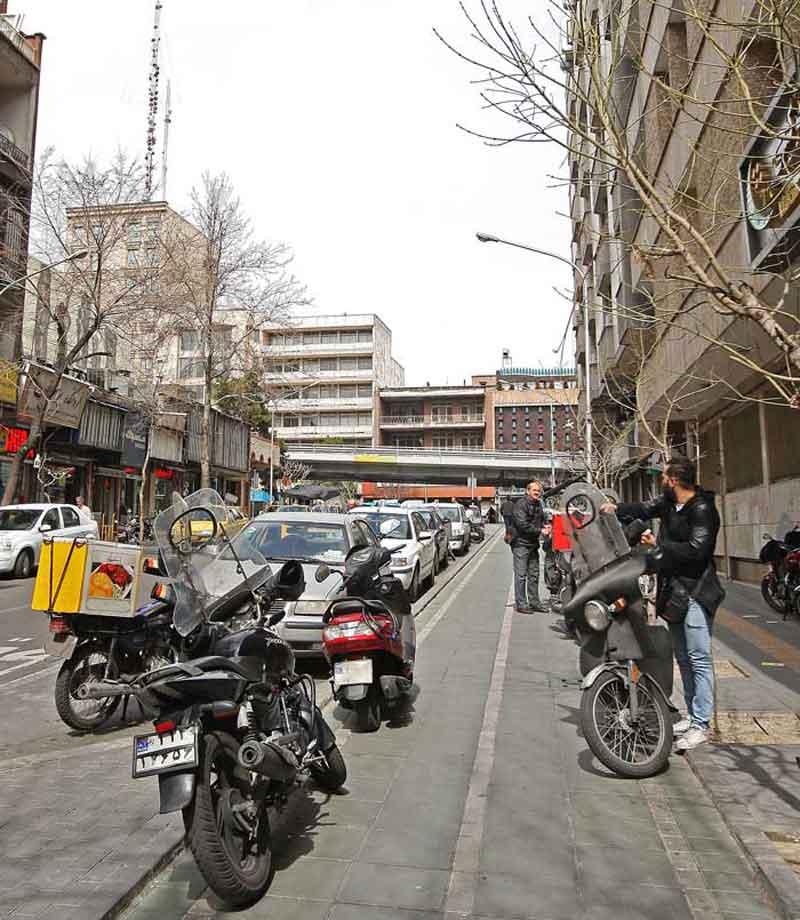 عدم رسیدگی مسیر دوچرخه در تهران