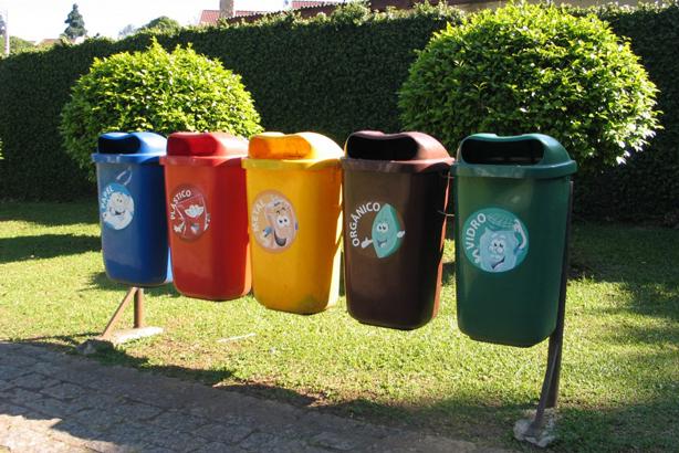 سطل های تفکیک زباله در شهر