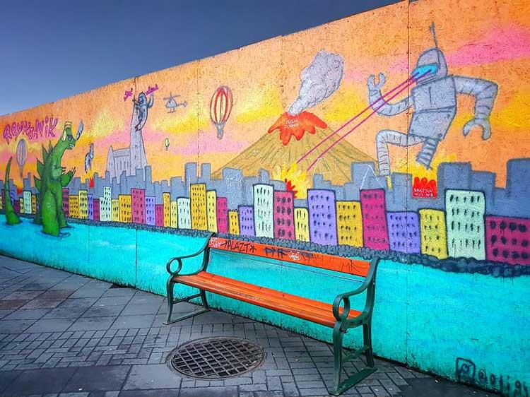 نیمکت در فضای شهری