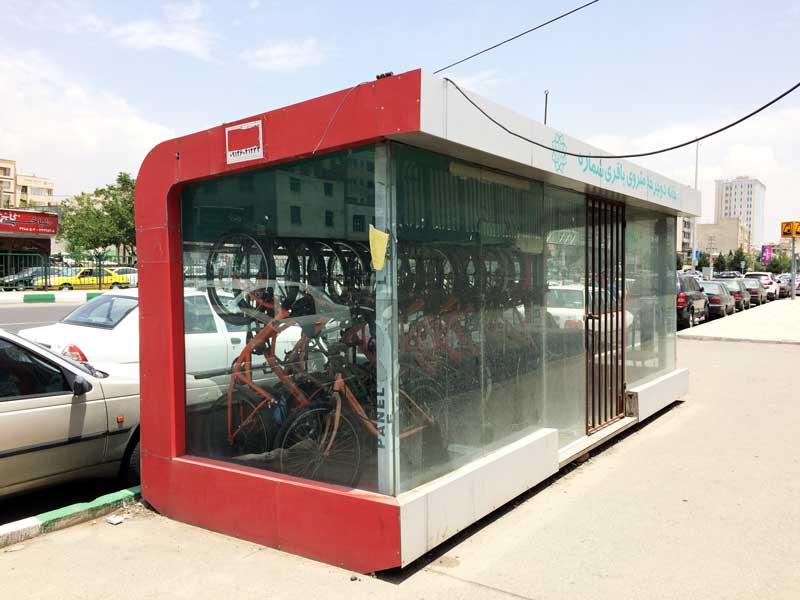 ایستگاه دوچرخه متروی باقری